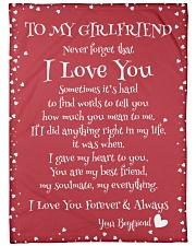 "To My Girlfriend  Large Fleece Blanket - 60"" x 80"" front"