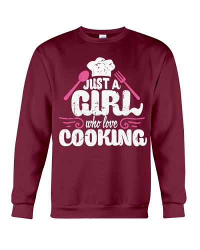 Just A Girl Who Love Cooking Cute Shirt 01