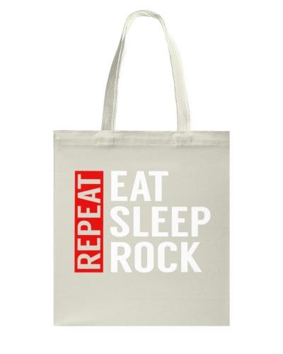 Eat Sleep Rock Repeat Funny Musician Guitarist Gag