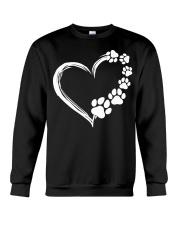 Dog Puppy Shirt Dogs Paw Print Heart Crewneck Sweatshirt thumbnail