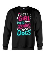 Just A Girl Who Loves Dog Crewneck Sweatshirt thumbnail