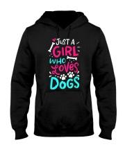 Just A Girl Who Loves Dog Hooded Sweatshirt thumbnail