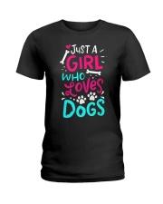 Just A Girl Who Loves Dog Ladies T-Shirt thumbnail