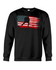 American Flag Patriotic Ice Hockey Crewneck Sweatshirt thumbnail
