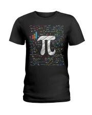 Pi Day Math Equation Ladies T-Shirt tile
