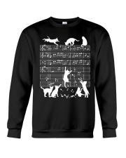 Cats Musical Notes Music Musician Composer Crewneck Sweatshirt tile