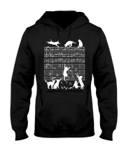 Cats Musical Notes Music Musician Composer Hooded Sweatshirt thumbnail