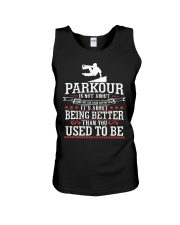Parkour Is Not About Being Better Than Anyone Shir Unisex Tank thumbnail