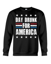 Independence Day Day Drunk For America Shirt Crewneck Sweatshirt thumbnail