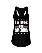 Independence Day Day Drunk For America Shirt Ladies Flowy Tank thumbnail