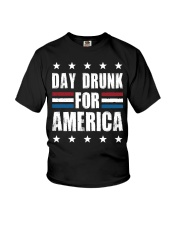 Independence Day Day Drunk For America Shirt Youth T-Shirt thumbnail