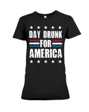 Independence Day Day Drunk For America Shirt Premium Fit Ladies Tee thumbnail