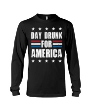 Independence Day Day Drunk For America Shirt Long Sleeve Tee thumbnail