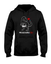 Preggosaurus Rex Mom Pregnant Mother Shirt Hooded Sweatshirt thumbnail
