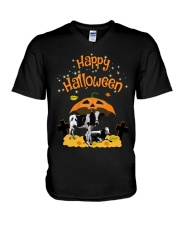 Cows Happy Halloween Shirt V-Neck T-Shirt tile