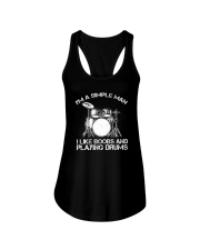 I'm A Simple Man I Like Boobs And Playing Drums Ladies Flowy Tank thumbnail