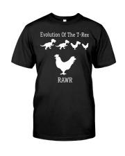 Evolution Of The T-Rex Rawr Shirt Classic T-Shirt front