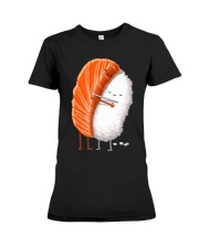 Sushi Hug Cute Kawaii Japanese Food Shirt Premium Fit Ladies Tee thumbnail