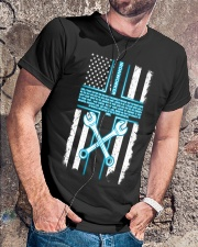 Ironworker Lord Thank You For This Job And The Ble Classic T-Shirt lifestyle-mens-crewneck-front-4
