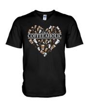 Im A Coffeeaholic Coffee Shirt V-Neck T-Shirt thumbnail