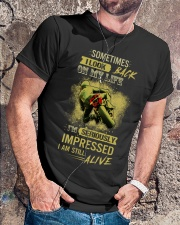 Sometimes I Look Back On My Life I'm Seriously Imp Classic T-Shirt lifestyle-mens-crewneck-front-4