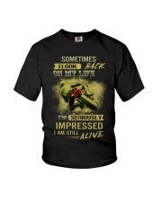 Sometimes I Look Back On My Life I'm Seriously Imp Youth T-Shirt thumbnail