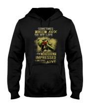Sometimes I Look Back On My Life I'm Seriously Imp Hooded Sweatshirt thumbnail