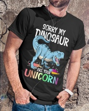 Sorry My Dinosaur Ate Your Unicorn T-Rex Shirt Classic T-Shirt lifestyle-mens-crewneck-front-4