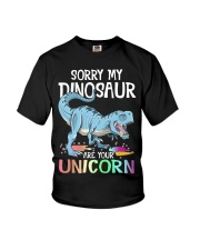 Sorry My Dinosaur Ate Your Unicorn T-Rex Shirt Youth T-Shirt thumbnail