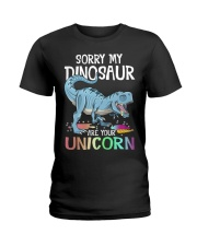 Sorry My Dinosaur Ate Your Unicorn T-Rex Shirt Ladies T-Shirt thumbnail