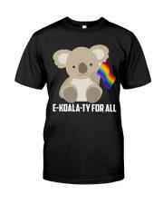 Rainbow Flag Koala Gay Pride LGBT Shirt Classic T-Shirt front