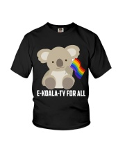 Rainbow Flag Koala Gay Pride LGBT Shirt Youth T-Shirt thumbnail
