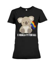 Rainbow Flag Koala Gay Pride LGBT Shirt Premium Fit Ladies Tee thumbnail
