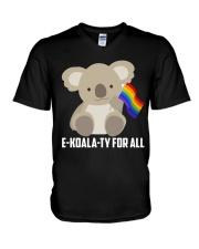 Rainbow Flag Koala Gay Pride LGBT Shirt V-Neck T-Shirt thumbnail
