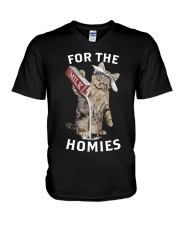 Cat Drop Milk For The Homies Shirt V-Neck T-Shirt tile