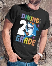 Roaring Into 2st Grade Shark Shirt Back To School  Classic T-Shirt lifestyle-mens-crewneck-front-4
