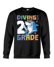 Roaring Into 2st Grade Shark Shirt Back To School  Crewneck Sweatshirt thumbnail