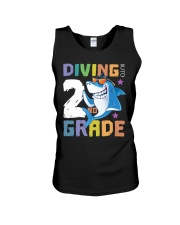 Roaring Into 2st Grade Shark Shirt Back To School  Unisex Tank thumbnail