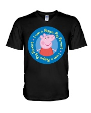 I Am A Peppa Pig Parent Shirt V-Neck T-Shirt thumbnail