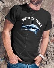 Beach Respect The Locals Shark Shirt Classic T-Shirt lifestyle-mens-crewneck-front-4