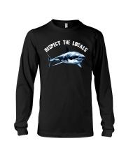 Beach Respect The Locals Shark Shirt Long Sleeve Tee thumbnail