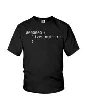 000000 Lives matter Shirt Css Black Lives Matter s Youth T-Shirt thumbnail