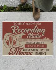 "Personalized Recording Studio Doormat 34"" x 23"" aos-doormat-34-x-23-lifestyle-front-01"