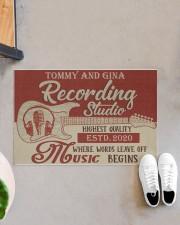 "Personalized Recording Studio Doormat 34"" x 23"" aos-doormat-34-x-23-lifestyle-front-07"