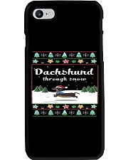 Selling fast -Dachshund Through Snow Phone Case tile