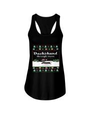 Selling fast -Dachshund Through Snow Ladies Flowy Tank thumbnail
