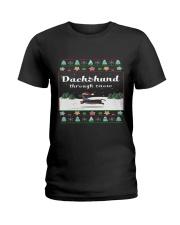 Selling fast -Dachshund Through Snow Ladies T-Shirt thumbnail