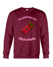 I'm Just Here for Chocolate Crewneck Sweatshirt front