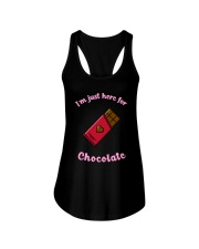 I'm Just Here for Chocolate Ladies Flowy Tank thumbnail
