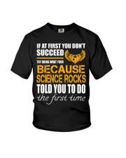 STICKER BECAUSE SCIENCE ROCKS Youth T-Shirt thumbnail